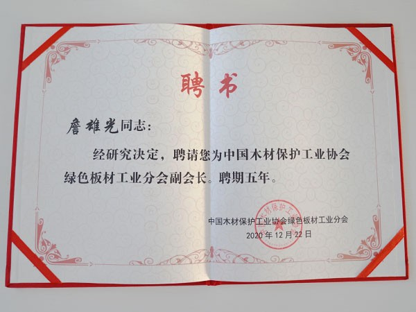 10大品牌板材松博宇-绿色板材工业分会副会长